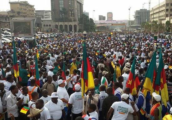 Des Camerounais massivement dans la rue pour une marge contre terrorisme