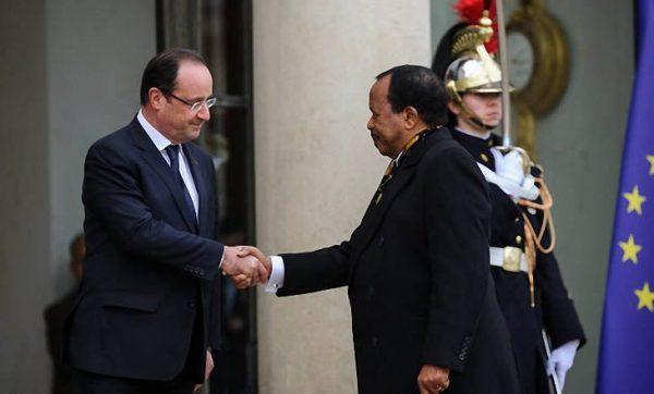 Le président Paul Biya en visite en France.