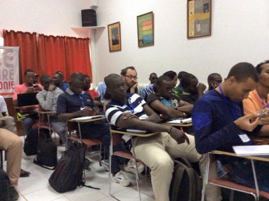Les Mondoblogueurs en pleine formation, à Dakar 2015